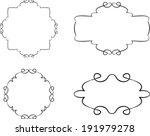 set of floral vintage frames   Shutterstock .eps vector #191979278