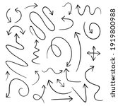 hand drawn black arrows... | Shutterstock .eps vector #1919800988