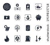 set of energy types icon....   Shutterstock .eps vector #1919815718