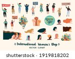 international womens day.... | Shutterstock .eps vector #1919818202