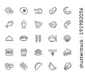 set of outline stroke food icon ... | Shutterstock .eps vector #191982056