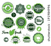 collection green  labels ... | Shutterstock . vector #191984996