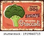 broccoli metal plate rusty ... | Shutterstock .eps vector #1919860715