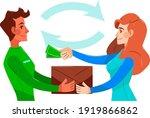 cash on delivery. postal parcel ... | Shutterstock .eps vector #1919866862
