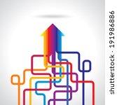 colored arrows vector | Shutterstock .eps vector #191986886