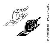 mechanical arm icon vector...   Shutterstock .eps vector #1919871362