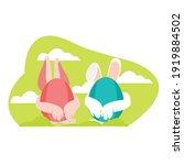 easter icon egg vector... | Shutterstock .eps vector #1919884502
