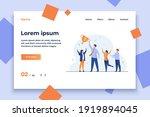 teamwork and team success...   Shutterstock .eps vector #1919894045