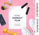 home workout plan vector... | Shutterstock .eps vector #1919898452