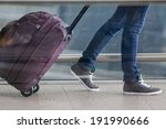 woman carries your luggage at... | Shutterstock . vector #191990666