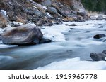 A Fast Moving Stream With Rocks ...