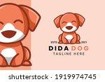 cute kawaii puppy dog mascot... | Shutterstock .eps vector #1919974745