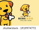 cute kawaii puppy dog mascot... | Shutterstock .eps vector #1919974772