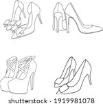 Doodle Set With Female Shoes....