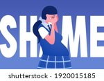 bold vector poster with crying...   Shutterstock .eps vector #1920015185