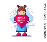 cute woman and love world... | Shutterstock .eps vector #1920016568