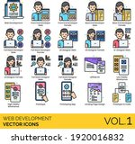 web development icons including ...
