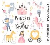 vector illustration  princess... | Shutterstock .eps vector #1920036125