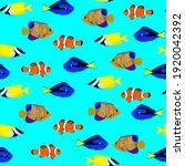 Tropical Fish  Seamless Pattern ...