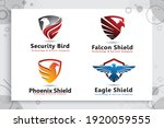 set collection of eagle shield... | Shutterstock .eps vector #1920059555
