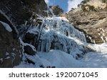 The Uchan Su Waterfall  Frozen...