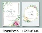 soft watercolor roses wedding... | Shutterstock .eps vector #1920084188