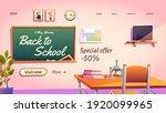 back to school cartoon landing...   Shutterstock .eps vector #1920099965