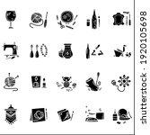 craft hobby set glyph icons.... | Shutterstock .eps vector #1920105698