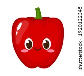 cute red sweet pepper character....   Shutterstock .eps vector #1920122345