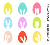 bunny ears and easters eggs...   Shutterstock .eps vector #1920129488