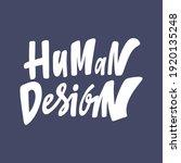 human design. hand drawn... | Shutterstock .eps vector #1920135248