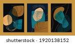luxury gold wallpaper.  black... | Shutterstock .eps vector #1920138152
