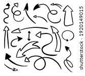 hand drawn black arrows... | Shutterstock .eps vector #1920149015