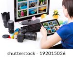 photo editor working on...   Shutterstock . vector #192015026