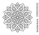 easy mandala  simple and basic... | Shutterstock .eps vector #1920153152