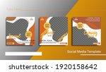 set of social media template ... | Shutterstock .eps vector #1920158642