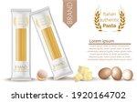 pasta spaghetti package mock up.... | Shutterstock .eps vector #1920164702