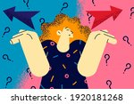 making decision  doubt ... | Shutterstock .eps vector #1920181268
