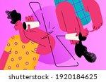 misunderstanding  problems in... | Shutterstock .eps vector #1920184625