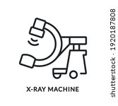 x ray machine flat line icon....   Shutterstock .eps vector #1920187808