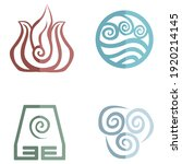 vector icons of avatar  the... | Shutterstock .eps vector #1920214145
