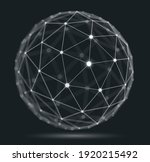 abstract 3d mesh sphere vector... | Shutterstock .eps vector #1920215492