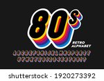 80's style colorful retro 3d...   Shutterstock .eps vector #1920273392