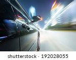 car on the road with motion... | Shutterstock . vector #192028055