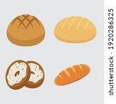 Set Vector Bread Icons. Rye ...