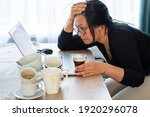 Overwork Tired Woman Caffeine...