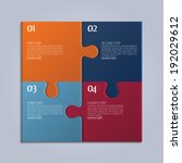vector four parts of puzzle. | Shutterstock .eps vector #192029612