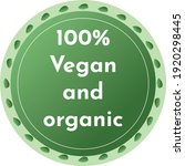 100  vegan and organic product... | Shutterstock .eps vector #1920298445