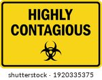 highly contagious caution sign... | Shutterstock .eps vector #1920335375
