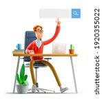 nerd larry is searching the... | Shutterstock . vector #1920355022